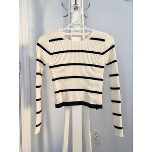Knit long sleeves croptop - Zara - Small